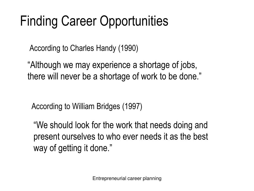 Finding Career Opportunities