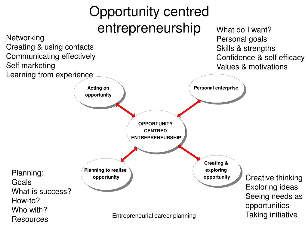 Opportunity centred entrepreneurship