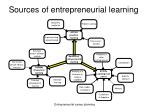 sources of entrepreneurial learning