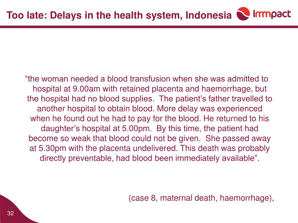 Too late: Delays in the health system, Indonesia