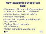 how academic schools can help