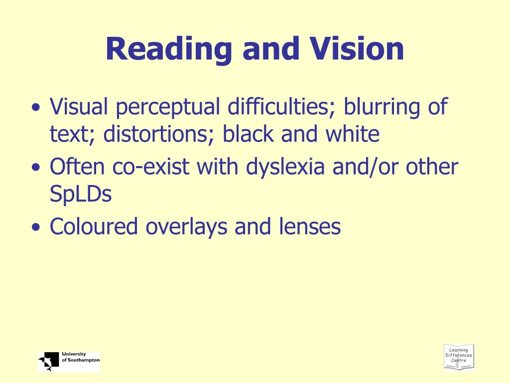Reading and Vision