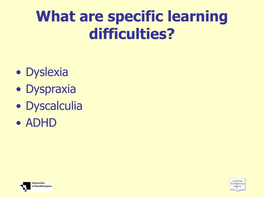 What are specific learning difficulties?