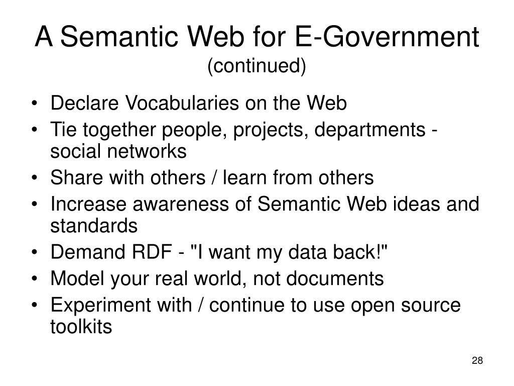 A Semantic Web for E-Government