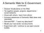 a semantic web for e government continued