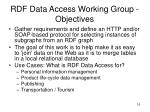 rdf data access working group objectives