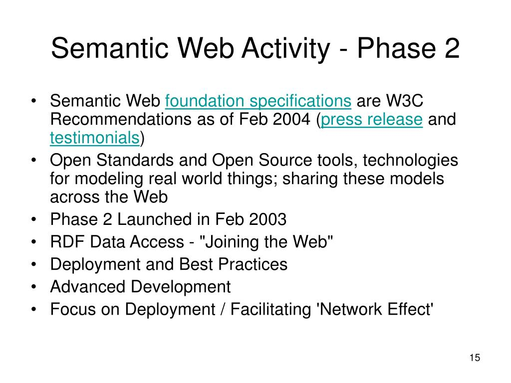 Semantic Web Activity - Phase 2