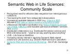 semantic web in life sciences community scale