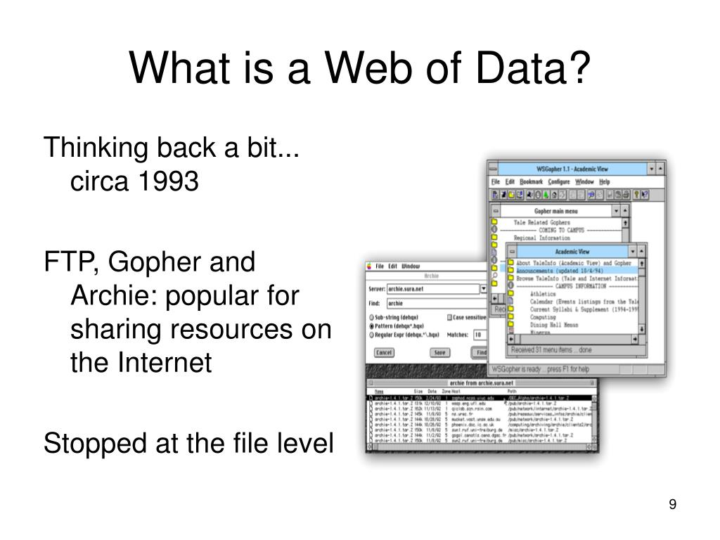 What is a Web of Data?