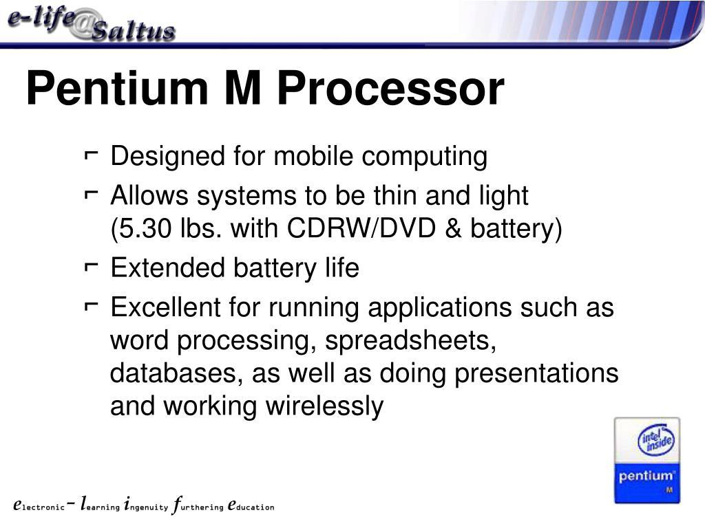 Pentium M Processor