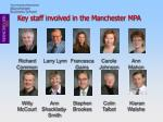 key staff involved in the manchester mpa