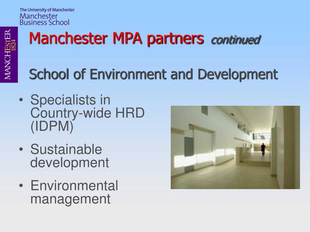 Manchester MPA partners