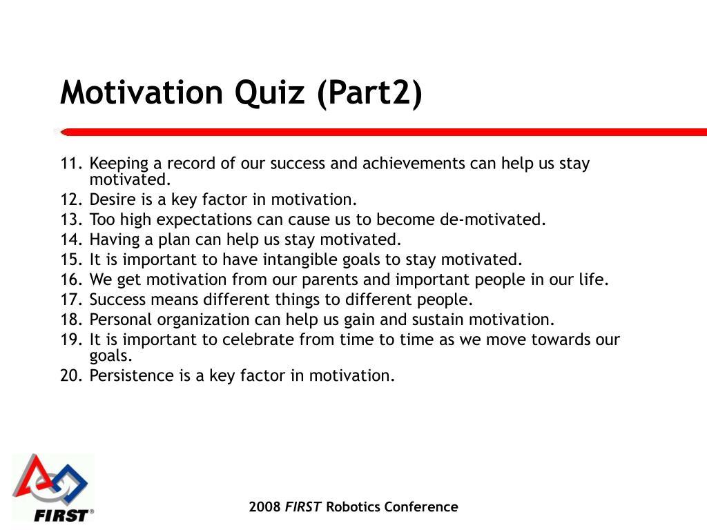 Motivation Quiz (Part2)