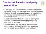 condorcet paradox and party competition1