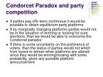 condorcet paradox and party competition2