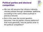 political parties and electoral competition