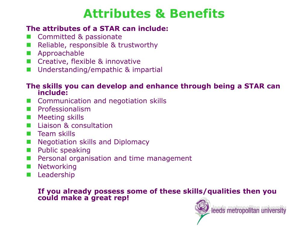 Attributes & Benefits