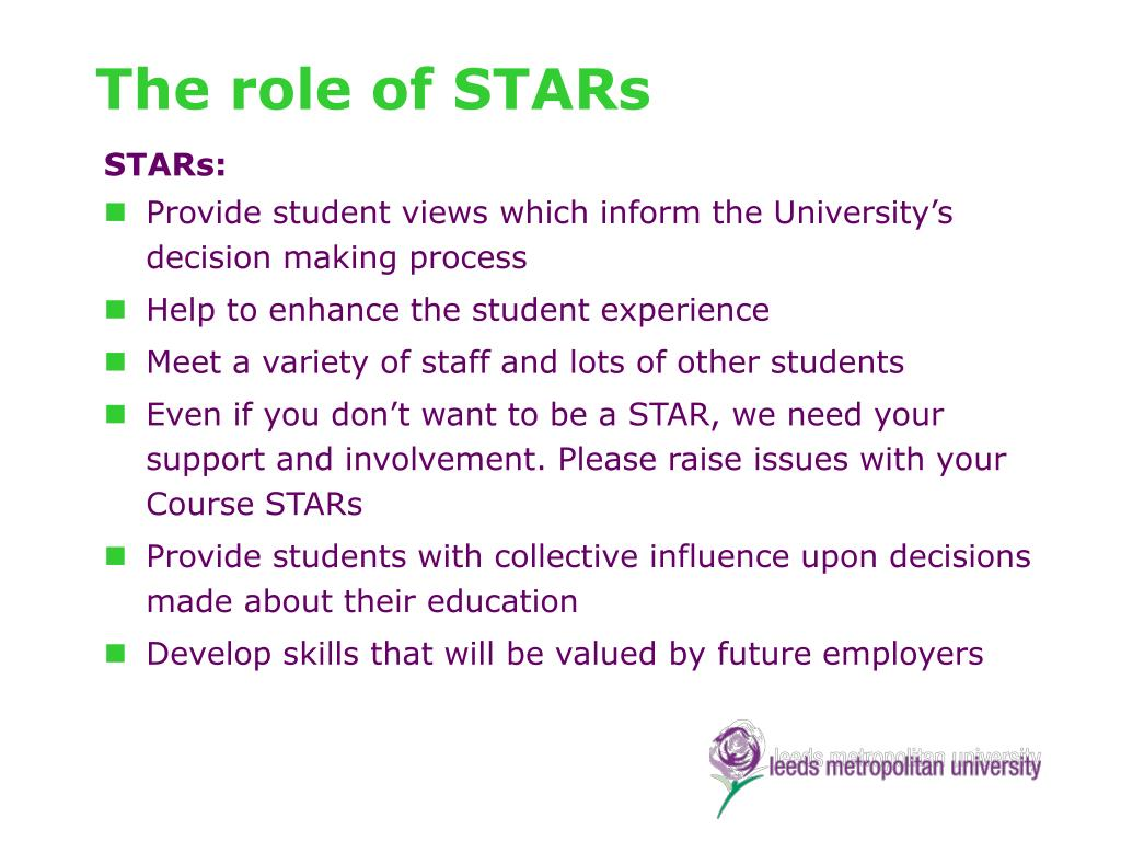 The role of STARs