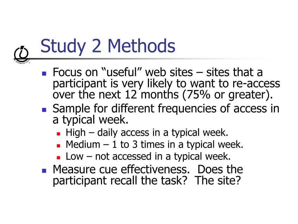 Study 2 Methods