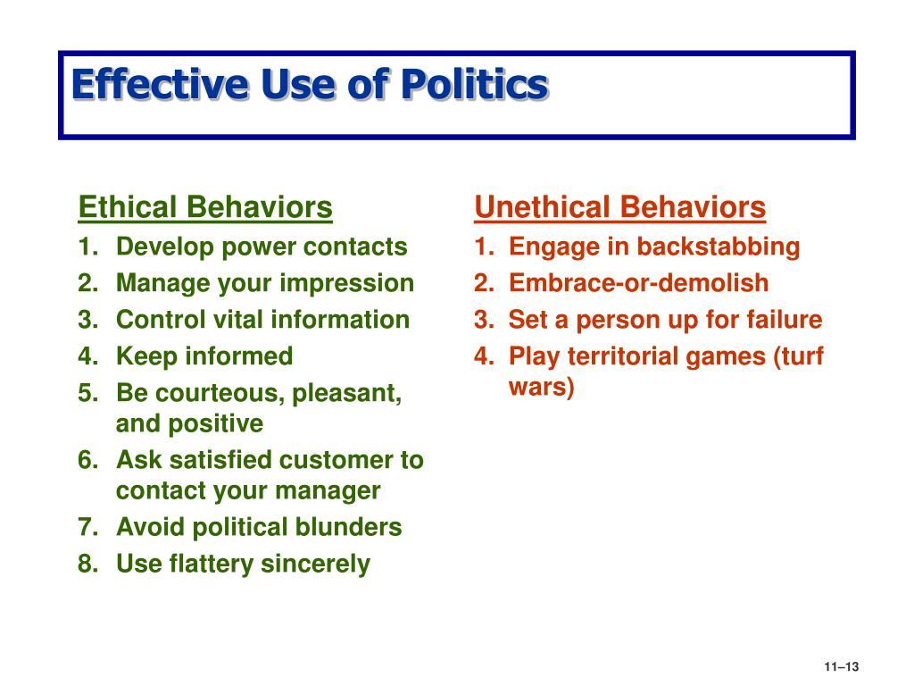 Ethical Behaviors