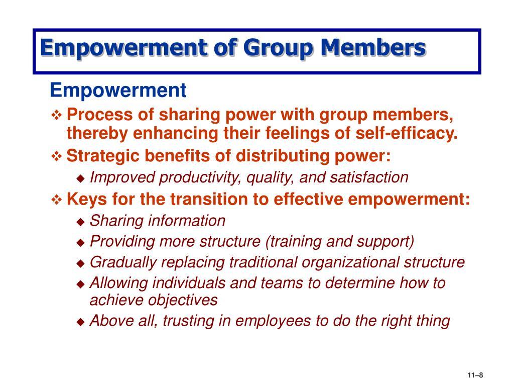 Empowerment of Group Members