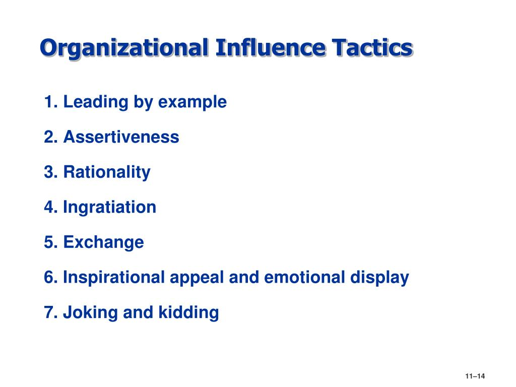 Organizational Influence Tactics