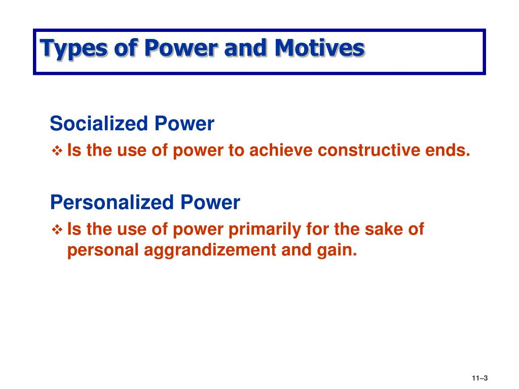 Types of Power and Motives