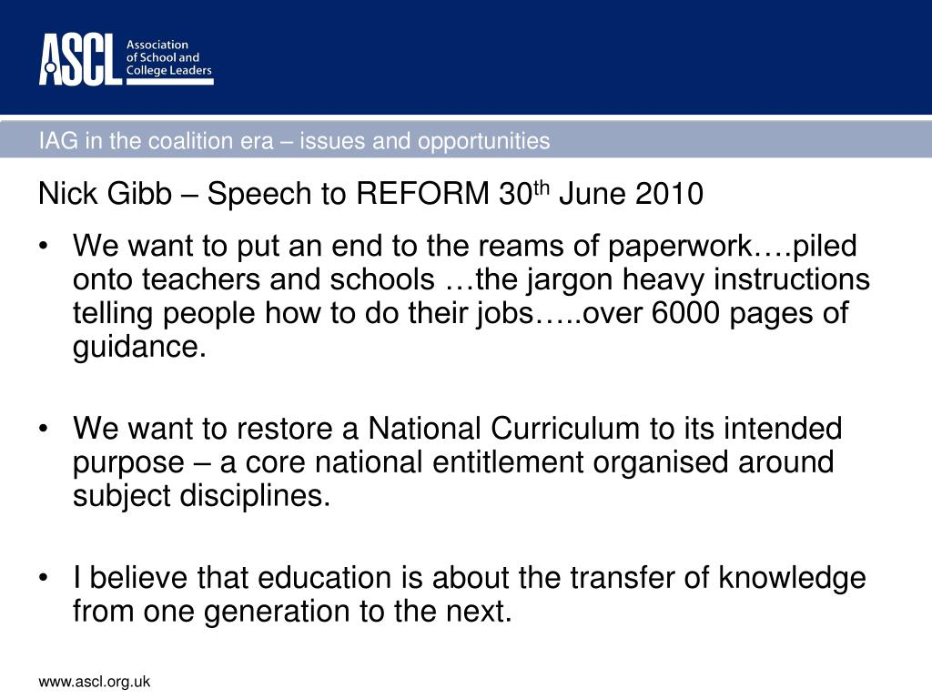 Nick Gibb – Speech to REFORM 30