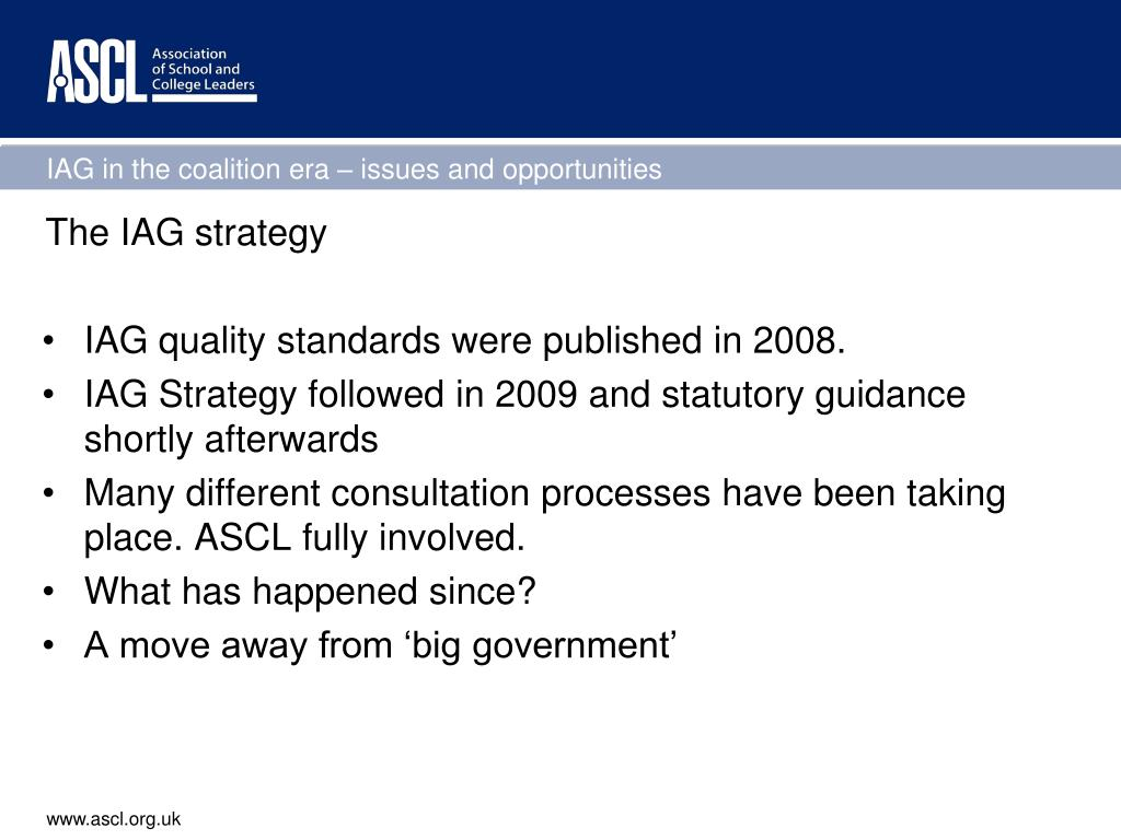 The IAG strategy