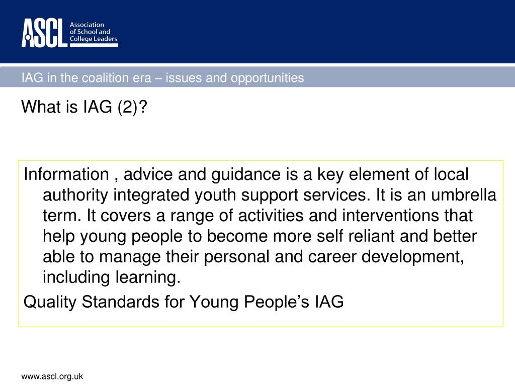 What is IAG (2)?