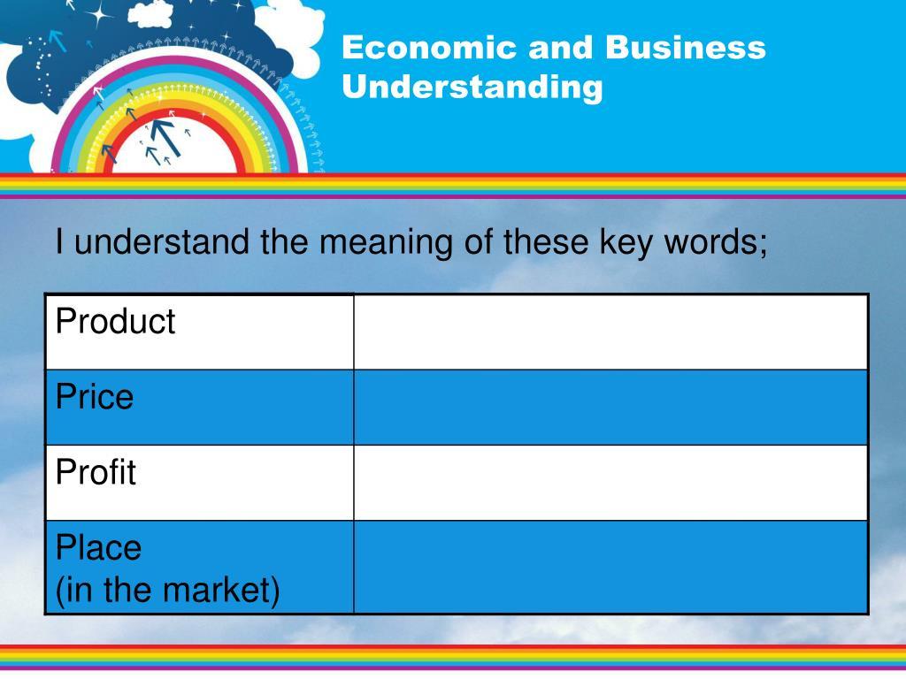 Economic and Business Understanding