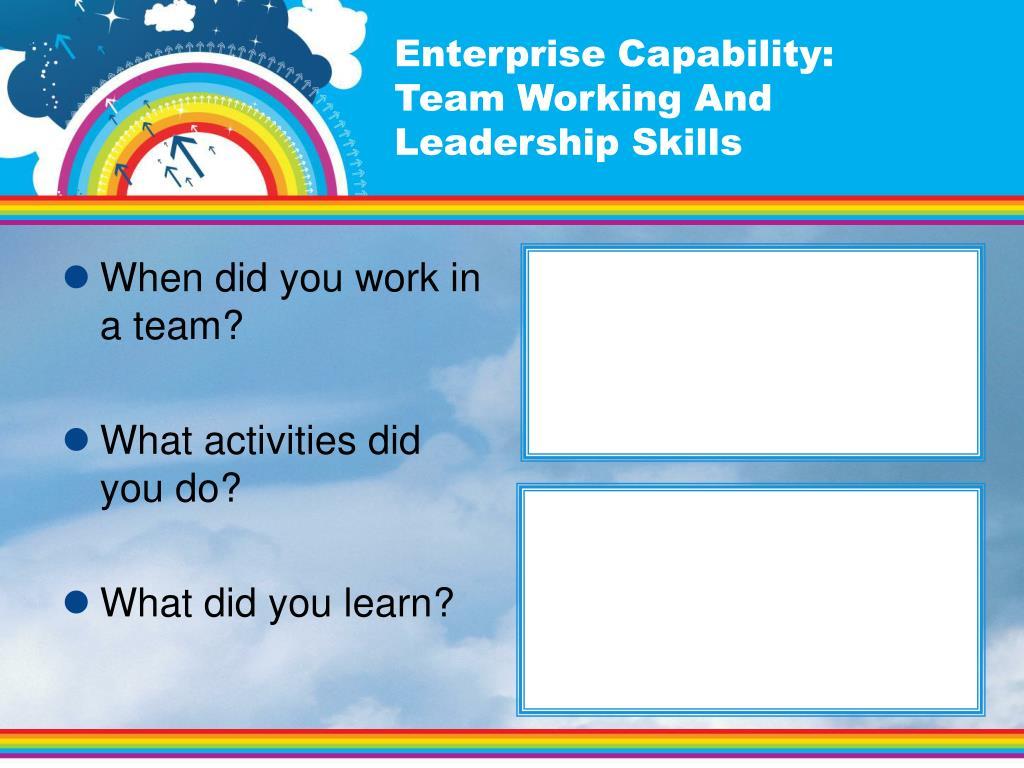 Enterprise Capability: