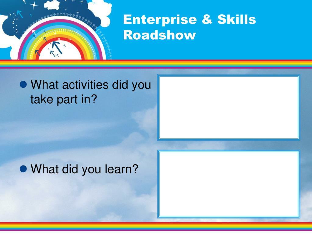 Enterprise & Skills Roadshow