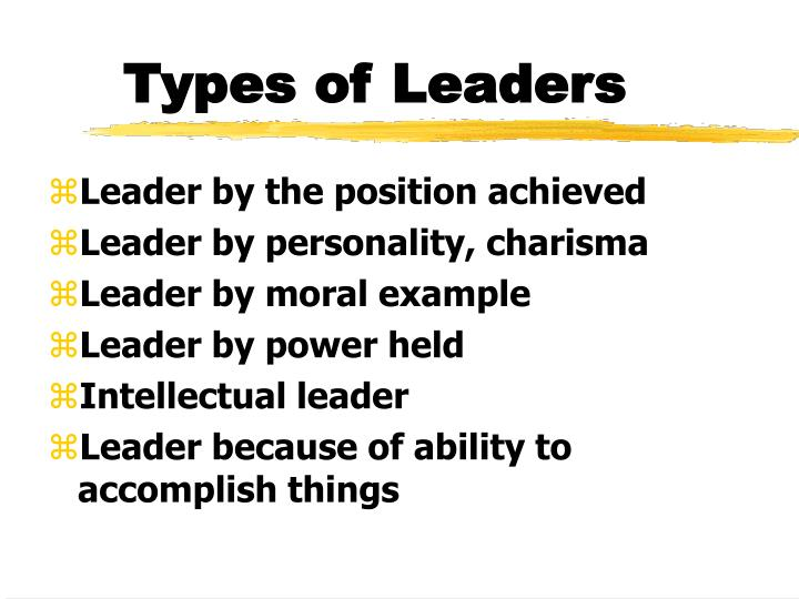 Types of leaders
