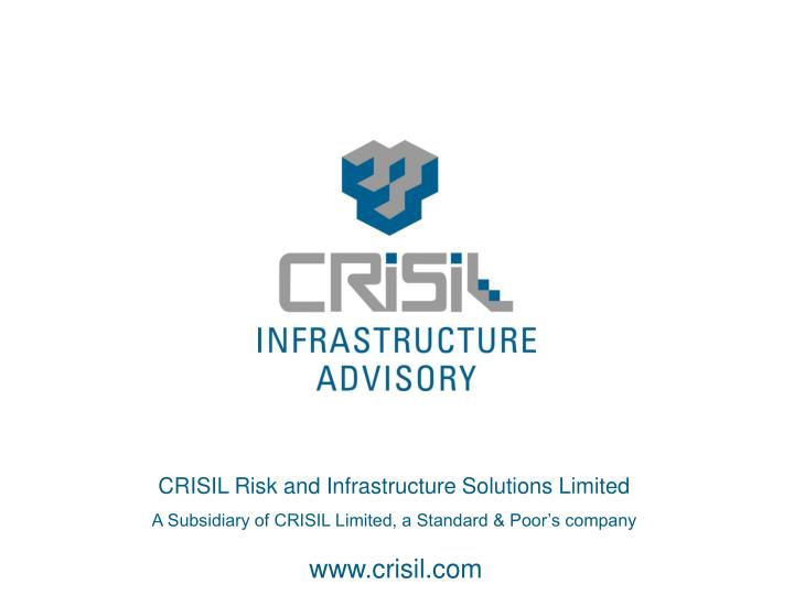 CRISIL Risk and Infrastructure Solutions Limited
