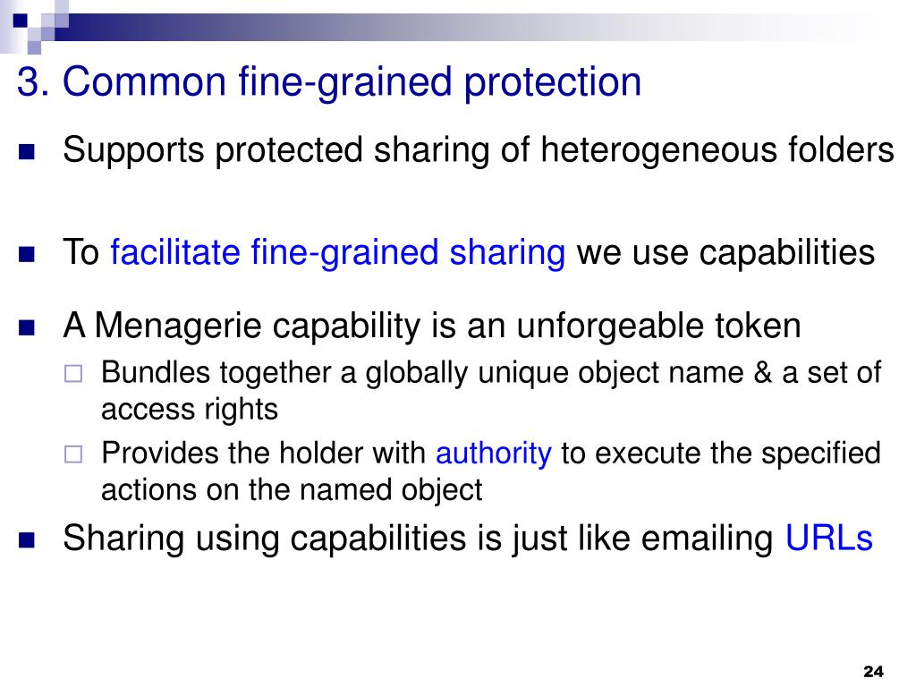 3. Common fine-grained protection