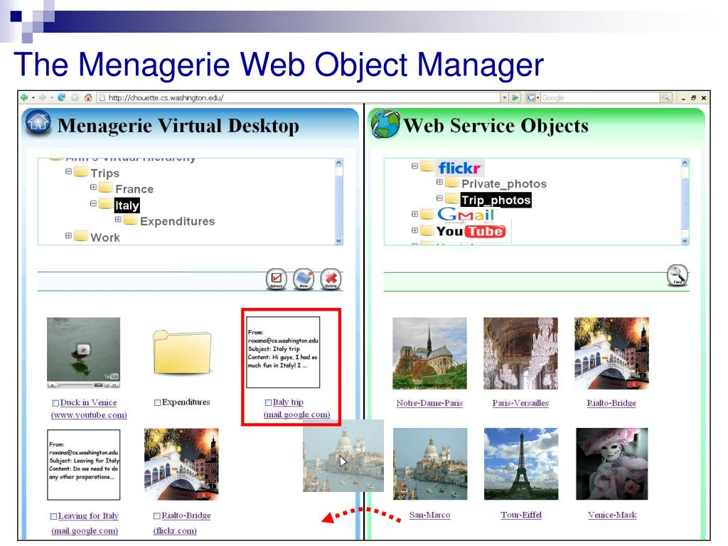 The Menagerie Web Object Manager