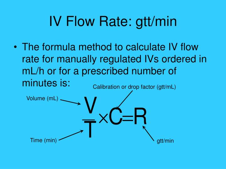 IV Flow Rate: gtt/min