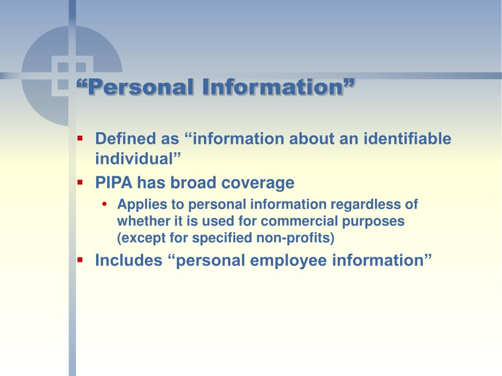 """Personal Information"""