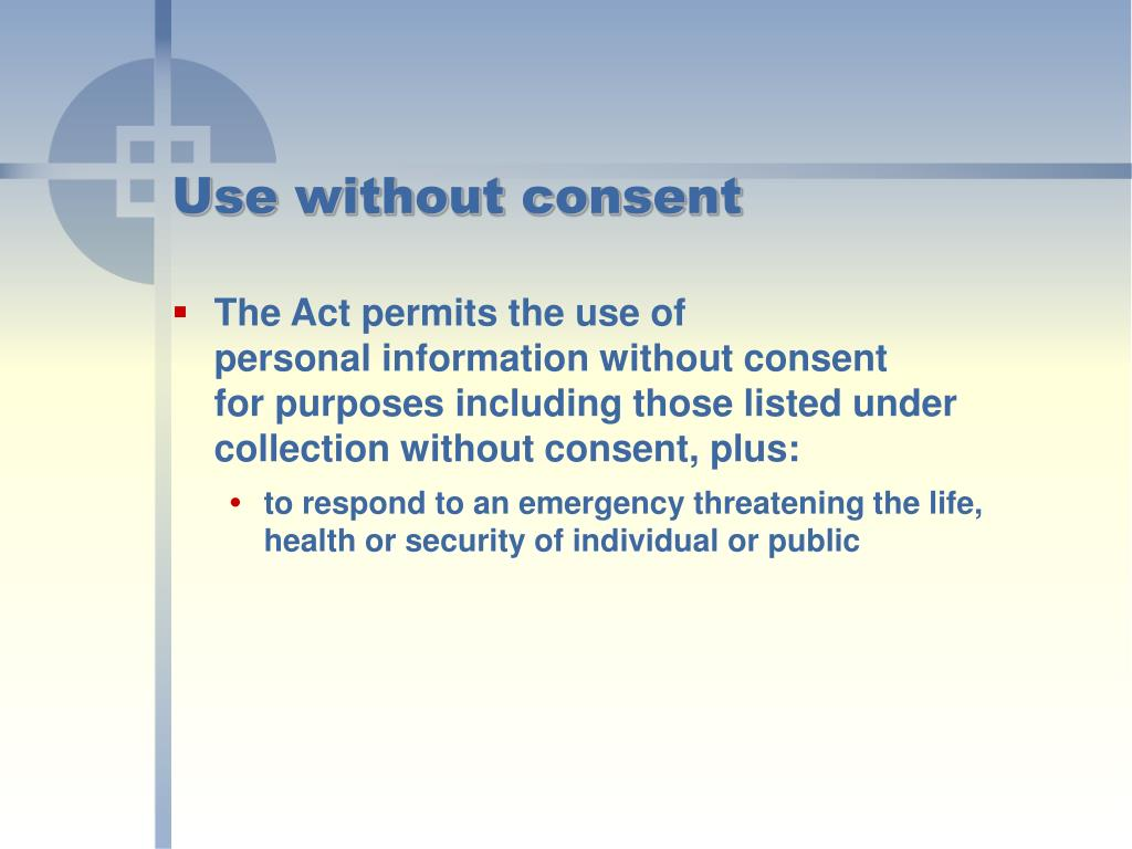 Use without consent