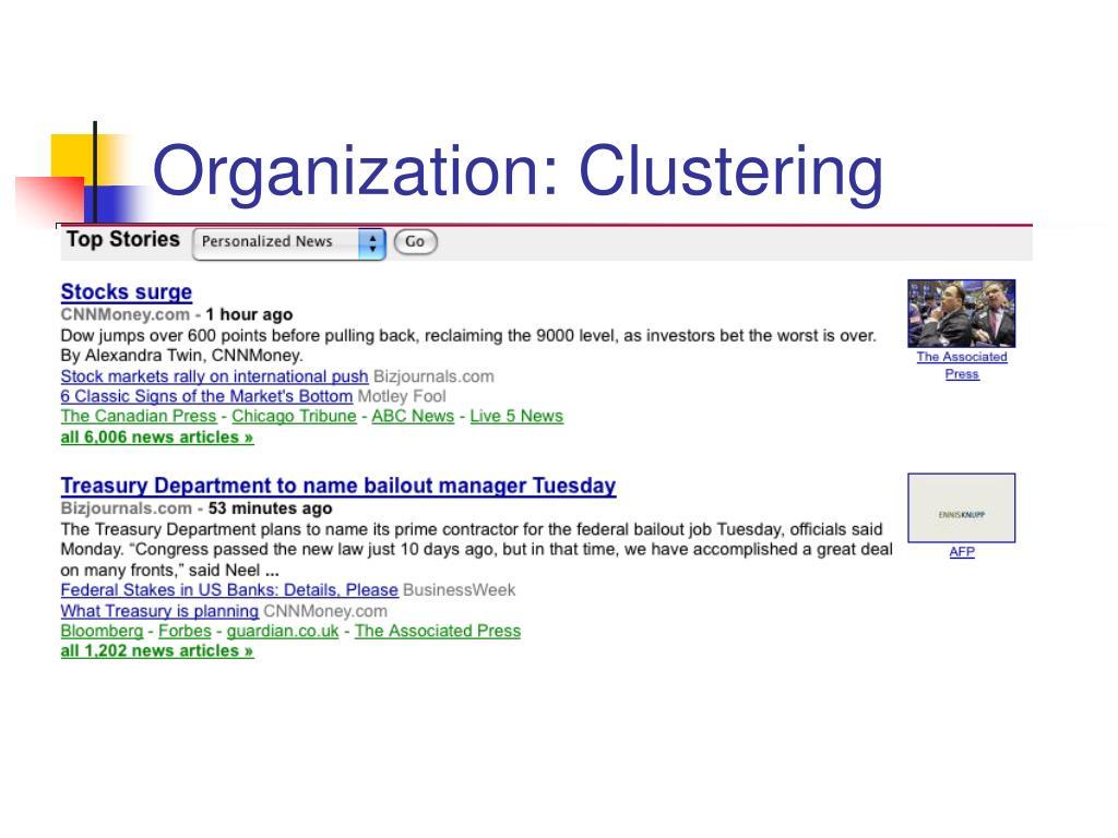 Organization: Clustering