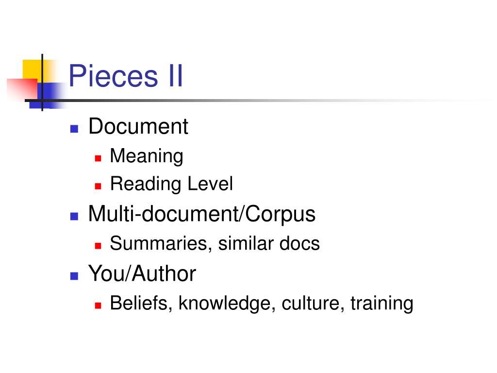 Pieces II