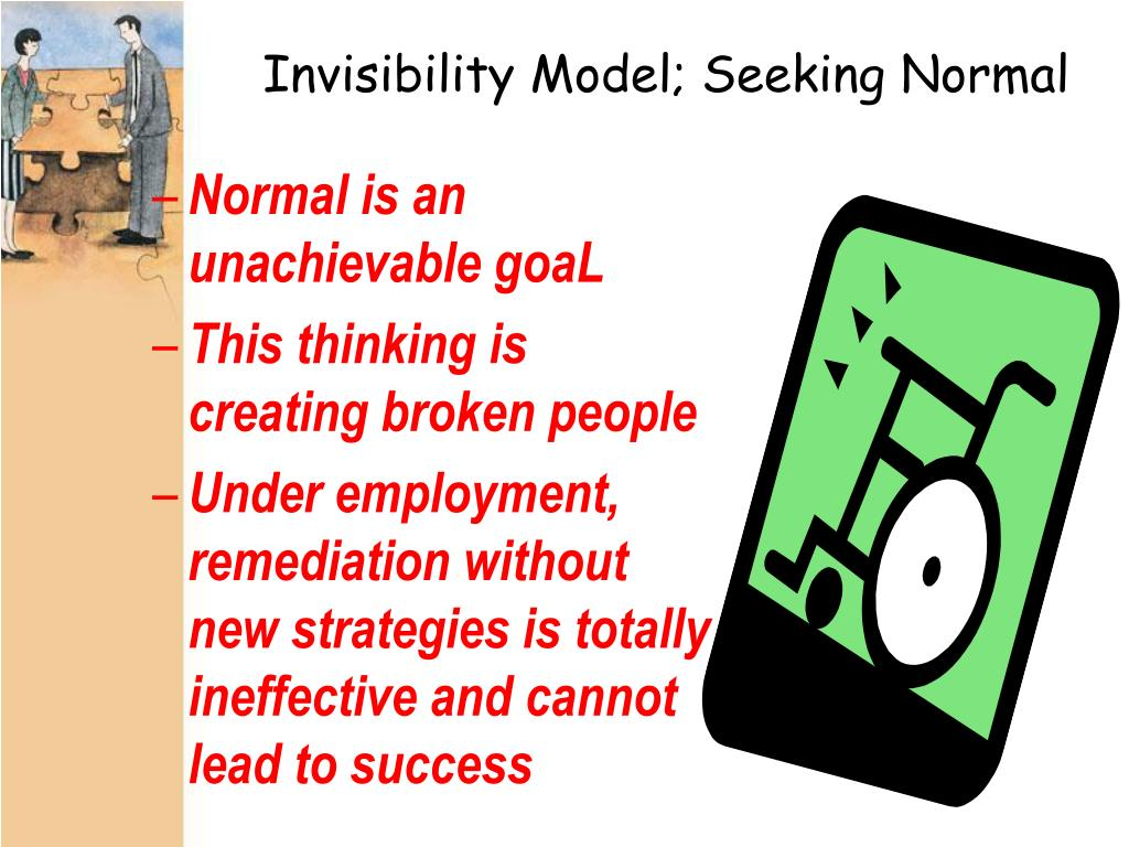 Invisibility Model; Seeking Normal