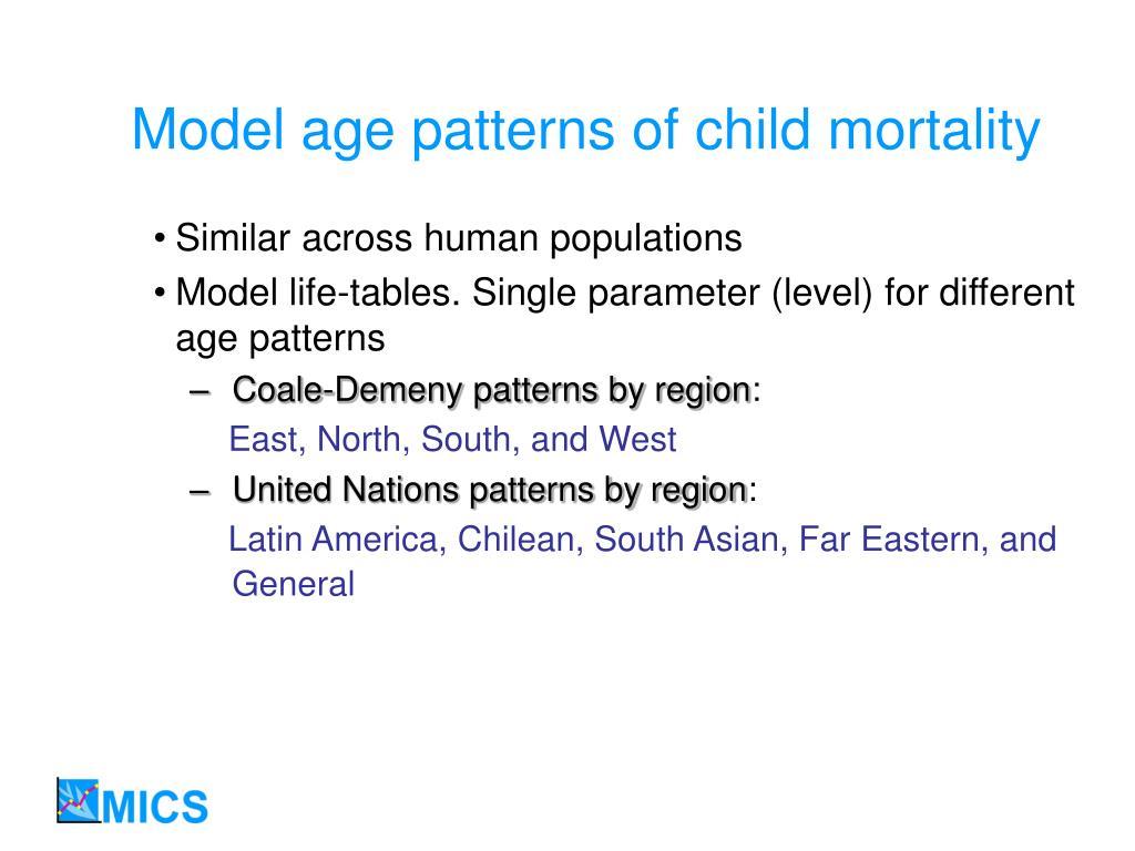 Model age patterns of child mortality