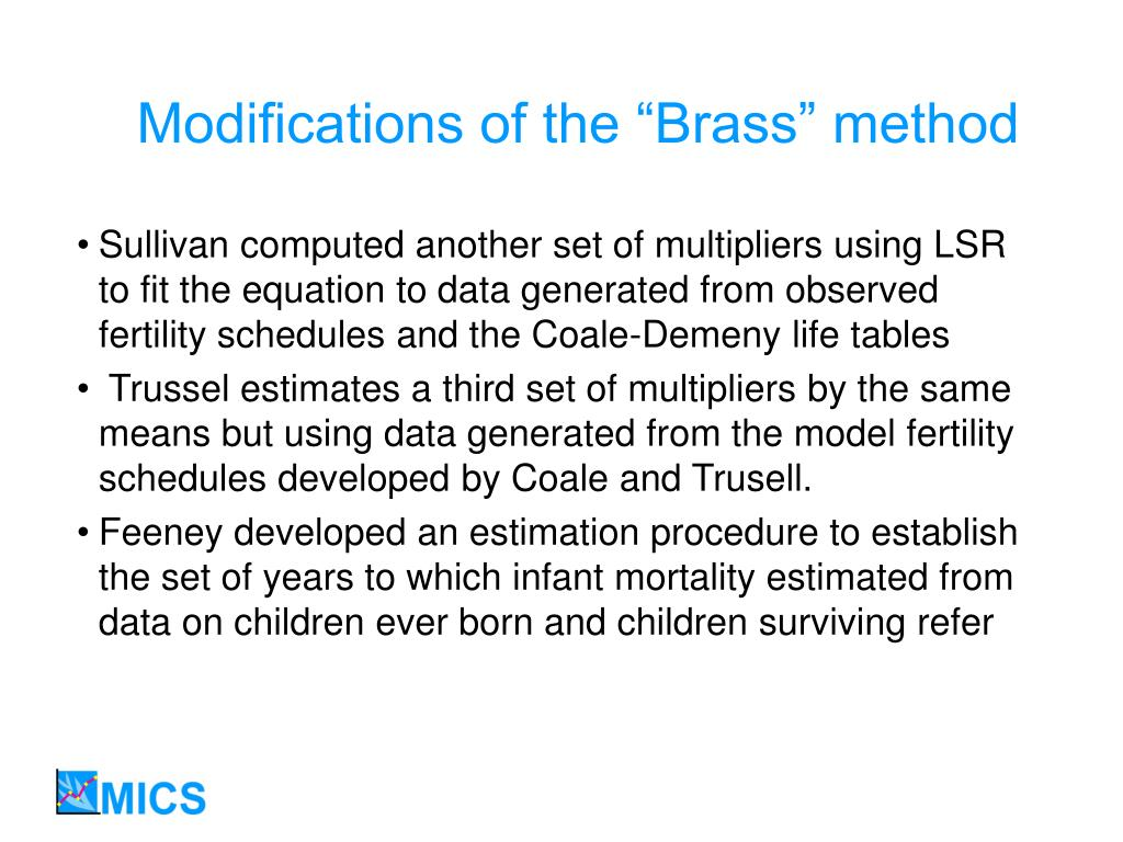 """Modifications of the """"Brass"""" method"""