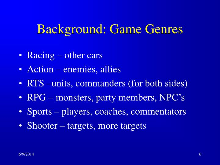 Background: Game Genres