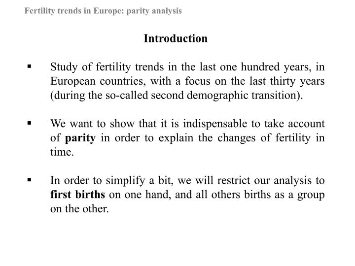 Fertility trends in europe parity analysis2