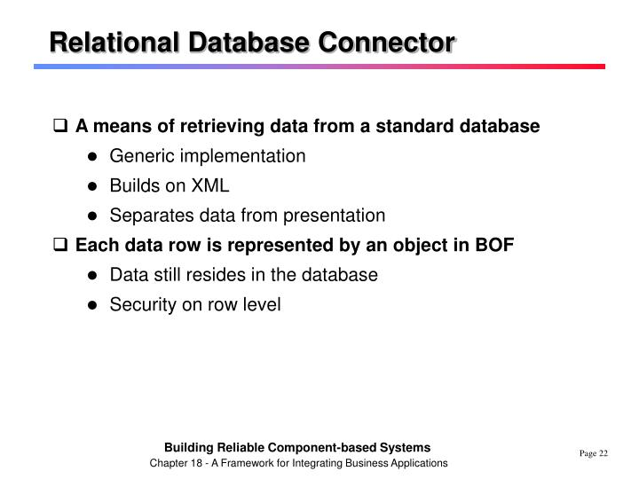 Relational Database Connector