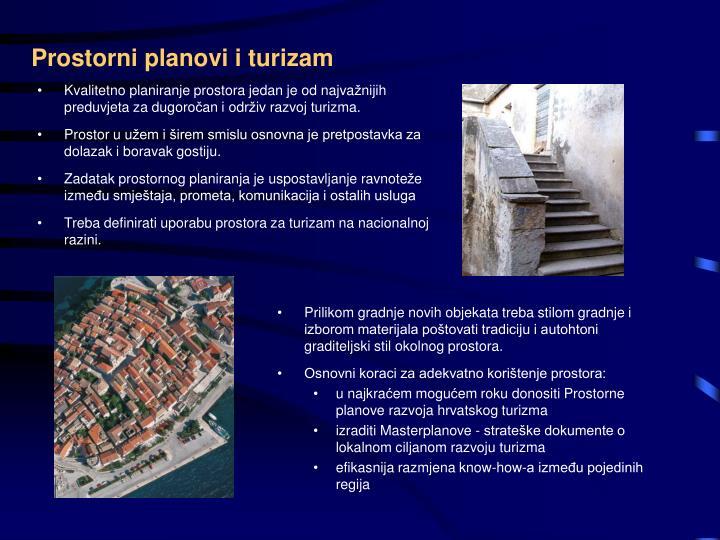 Prostorni planovi i turizam