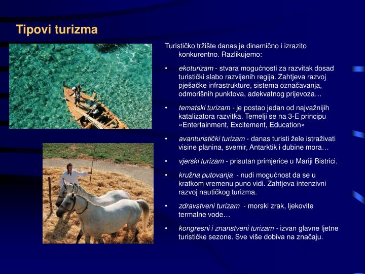 Tipovi turizma